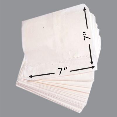 GREASEPROOF TAKEAWAY BAGS 7x7  1x1000