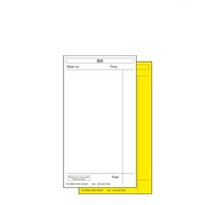 STD. NCR DUPLICATE ORDER PADS  40x50pg 80x145mm