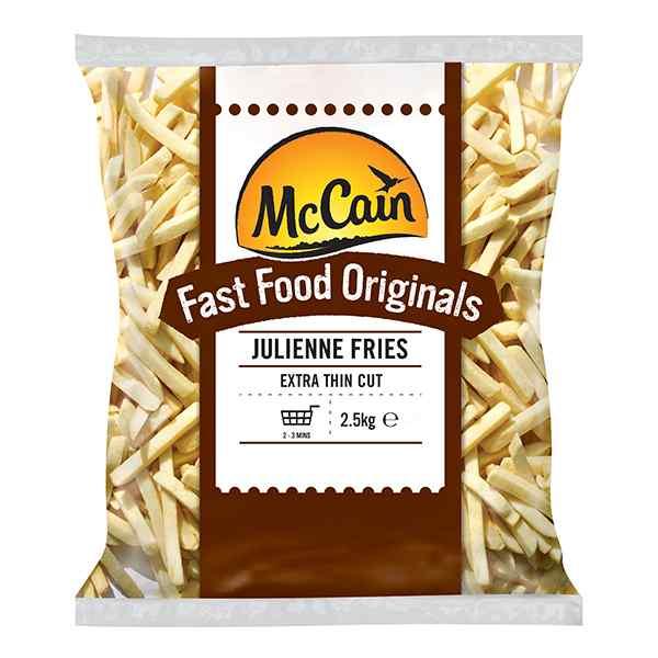 MCCAIN FAST FOOD ORIGINALS JULIENNE FRIES (1000000254 ) 4x2.5kg