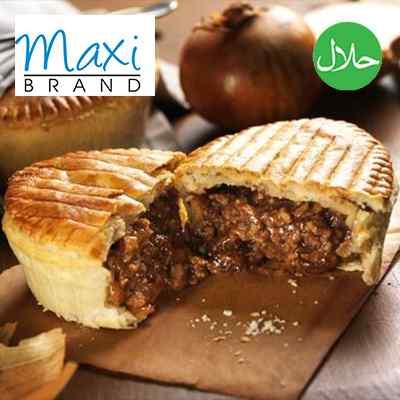 MAXI HALAL WRP BEEF & ONIONS PIE 12x235g