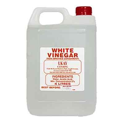 WHITE VINEGAR NON-BREWED CLEAR CONDIMEN 1x5lt