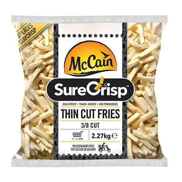 MCCAIN FAST FOOD PRIME (3/8) SURECRISP FRIES ( 7651) 4X2.27kg