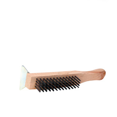 GRIDDLE BRUSH WITH STEEL SCRAPER