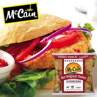 MCCAIN CLASSICS 1/4 VEG BURGERS 3x10x113g NO: 42046