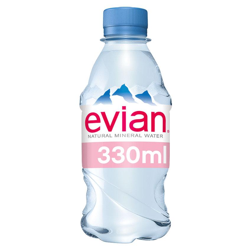 EVIAN NATURAL WATER 24x330ml