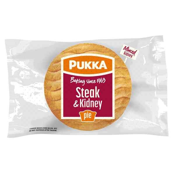UNWRAPPED PUKKA STEAK & KIDNEY PIE 12X229g