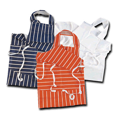 RED  BUTCHERS APRON INDIVIDUAL WRAPPED 1's
