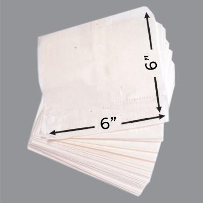 GREASEPROOF TAKEAWAY BAGS 6x6  1x1000