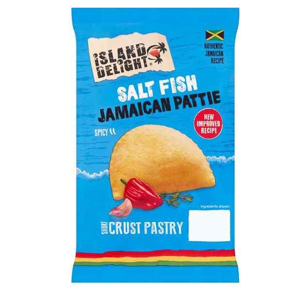 ISLAND D. JAMAICAN SALT FISH  PATTIE  24x140g