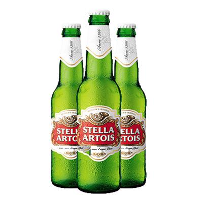 STELLA ARTOIS BEER GLASS BOTTLES 24 x 330ML
