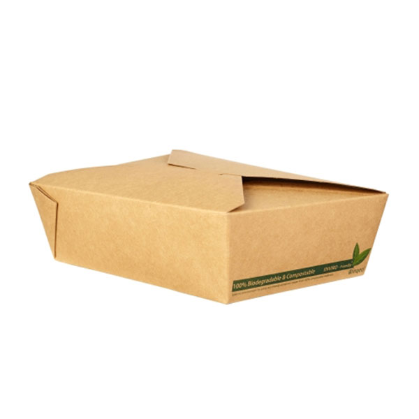NO3 COMPOSTABLE PLA 69oz KRAFT FOOD CONTAINER 4x50 - 39003 - DispoPak