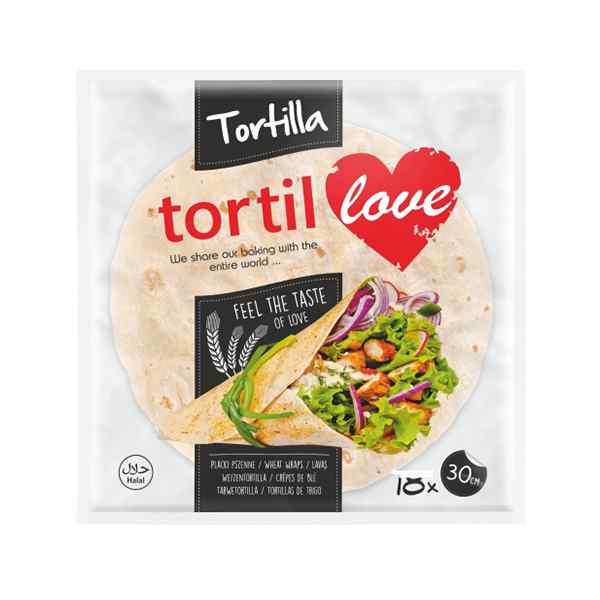 """12"""" TORTIL LOVE TORTILLA WRAP 90gr 10x10 30cm AMBIENT LAVAS BREAD"""