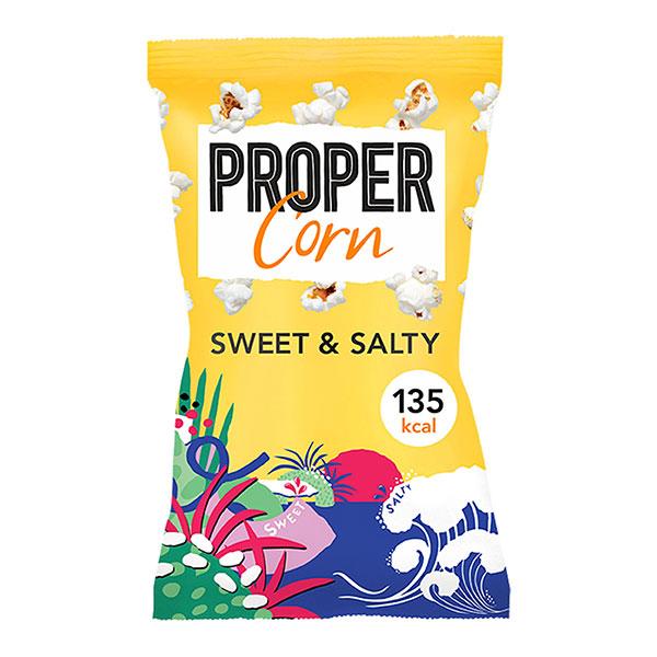 PROPER SWEET & SALTY POPCORN 24x30gm
