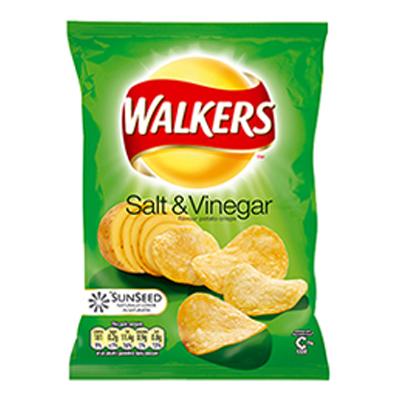 WALKERS STD SALT & VINEGAR  32x32g***BOX