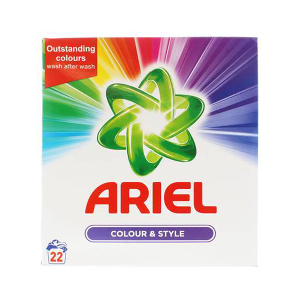 ARIEL 1.43KG POWDER COLOUR 22 WASH