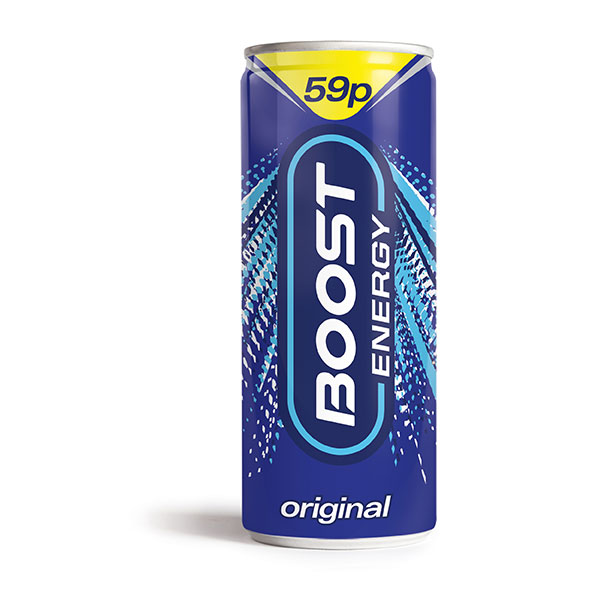 59p PRICE MARK BOOSTS CANS 24x250ml