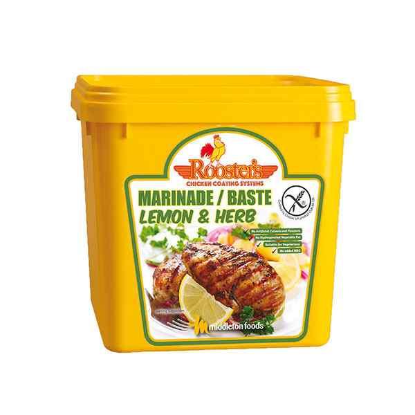 ROOSTER'S PIRI PIRI LEMON & HERB MARINADE BASTE TUB 2kg