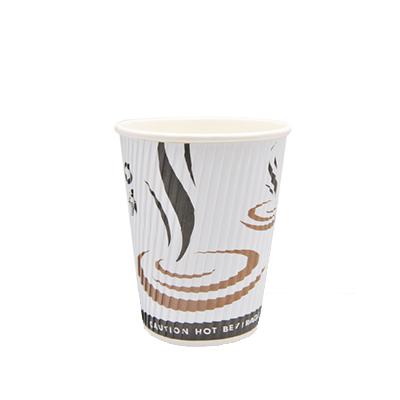 DISPO WHITE 8oz RIPPLE WALL PAPER CUPS 1x500