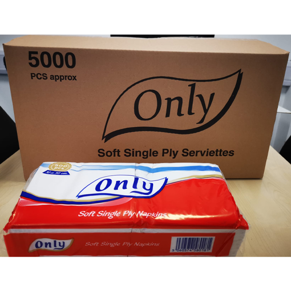 ONLY SERVIETTES (SINGLE PLY)  1x5000