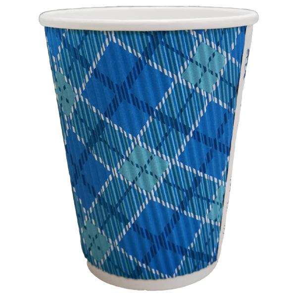 C RANGE 12 OUNCE BLUE RIPPLE CUPS 1x500