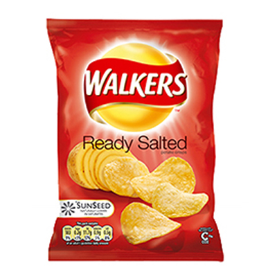 WALKERS STD READY SALTED  32x32g