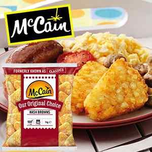 MCCAIN ORIGINAL CHOICE HASH BROWNS 8x1kg