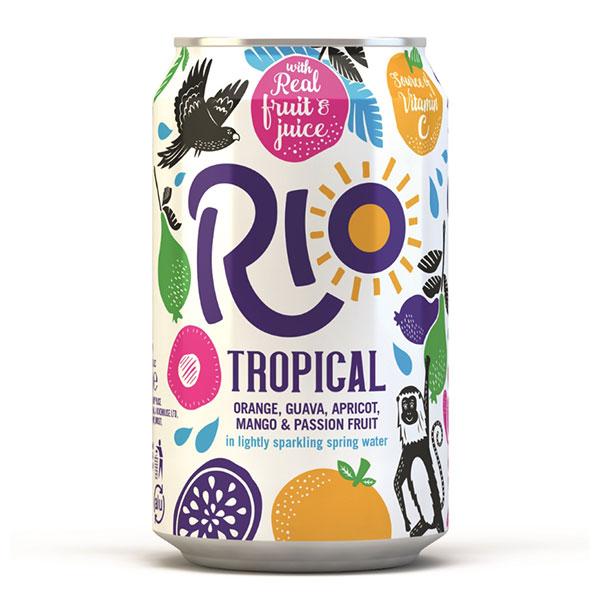 RIO TROPICAL CANS (GB)  24x330ml