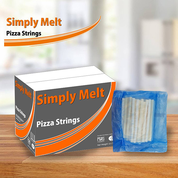 SIMPLY MELT PIZZA CHEESE STRINGS 4 x 2kg