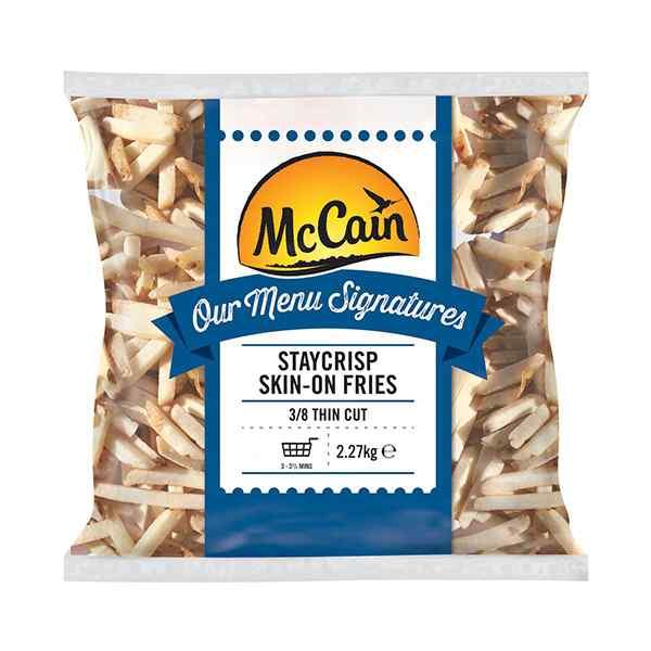 MCCAIN MENU SIGNATURE JULIENNE SKIN-ON CHIPS 4x2.27kg  PR CODE: ( 7855) EXT THIN
