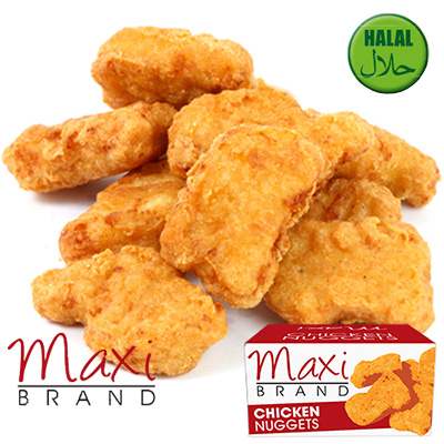 MAXI HALAL CHICKEN BATTERED NUGGETS  2x1kg