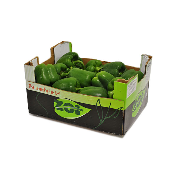 FRESH GREEN CAPSICUMS GG ( PEPPERS ) 5kg NOM 221-261g 20-23 pc