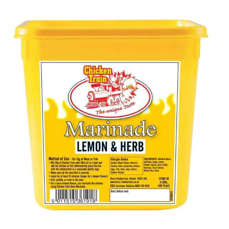 CHICKEN TRAIN PIRI PIRI LEMON & HERB 2kg MARINADE TUB 2kg