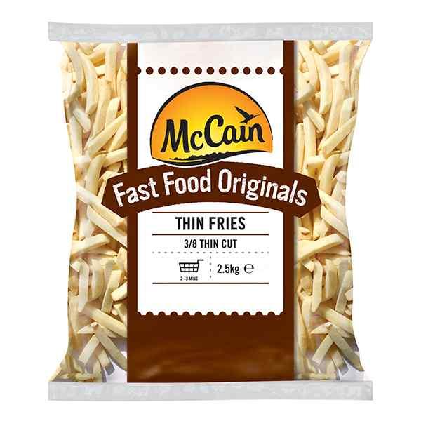 MCCAIN FAST FOOD ORIGINALS 3/8 THIN CUT