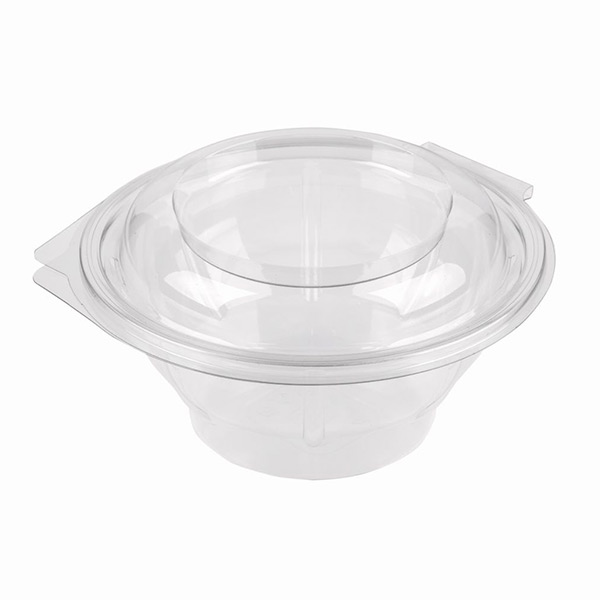 HINGED 750ml  SQUARE CLEAR SALAD BOWLS 300's RS-363