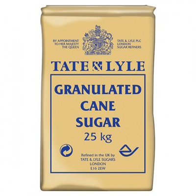 TATE & LYLE GRAN. PAPER SACK SUGAR 25Kg