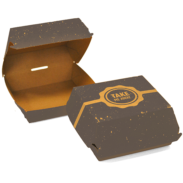 VINTAGE KSSK LARGE BURGER  BOXES 1x200 L 130mm  x D 130mm x H 75mm