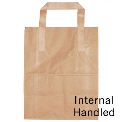 MAXI JUMBO BROWN SOS BAG (10x15x12)  1x225 254x381x305mm - INTERNAL HANDLE P/C23400016