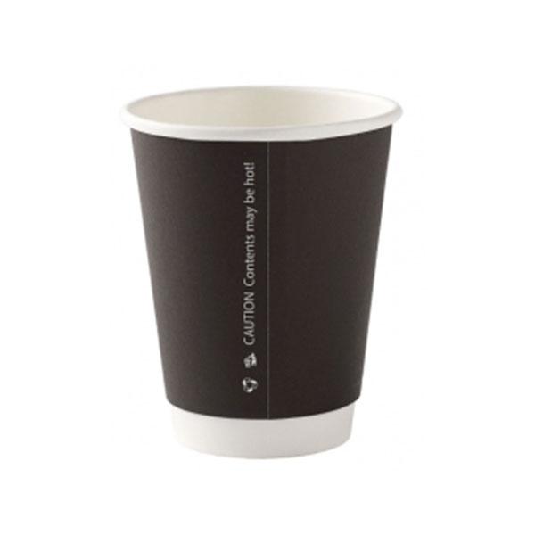 DISPO BLACK 8oz RIPPLE WALL PAPER CUPS 1x500