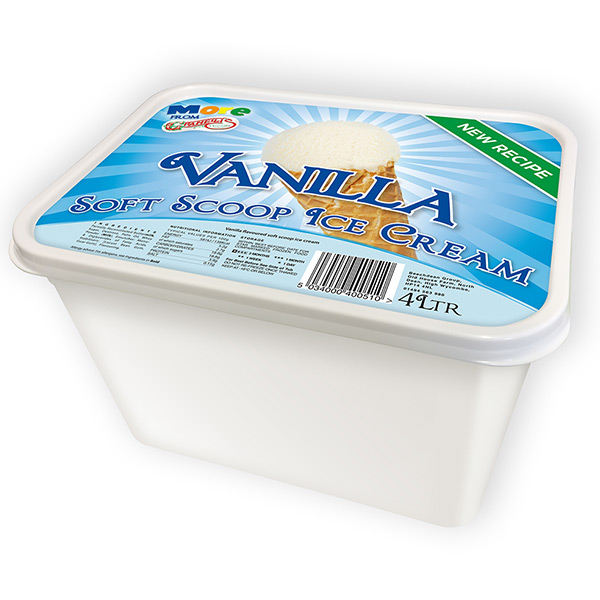 GRANELLI'S VANILLA ICE CREAM  6x4lt