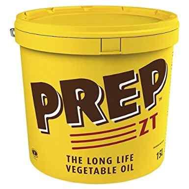 PREP ZT LONG LIFE VEGETABLE OIL TUB 15lt CAT-P0377SG