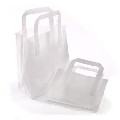 WHITE JUMBO SOS CARRIER BAG (10x15x12)  1x250 254 x 394 x 305mm