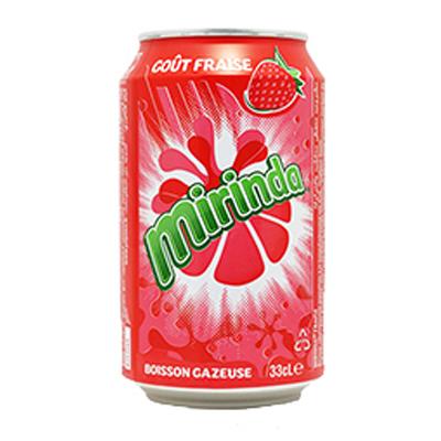 MIRINDA STRAWBERRY CANS 24x330ml