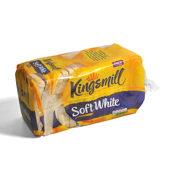 KINGSMILL EVERYDAY WHITE THICK BREAD 800g