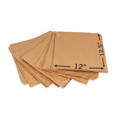 "BROWN KRAFT TAKEAWAY BAGS 12x12.5""  1x500"