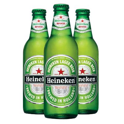 HEINEKEN BEER GLASS BOTTLES 24 x 330 ML