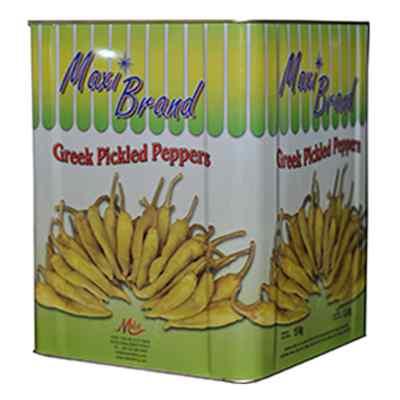 MAXI GREEK PICKLED PEPPS TIN 5.5kg NETT