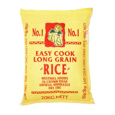 TOLLY BOY EASY COOK RICE 20 KG