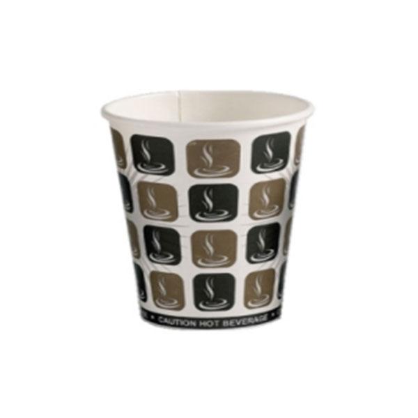 CAFE MOCHA SINGLE WALL PAPER CUPS 10oz 1x1000