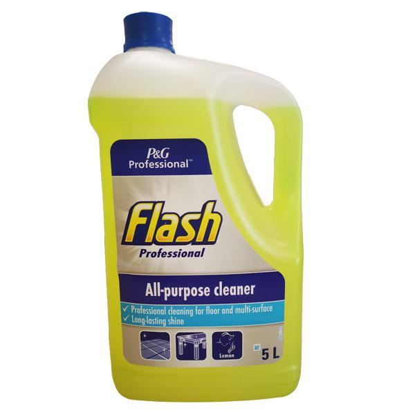 FLASH ALL PURPOSE LIQUID CLEANER LEMON 1X5lt SINGLE BOTTLE