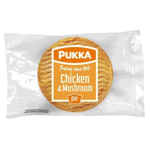 UNWRAP PUKKA CHICKEN & MUSHROOM PIE 12X229g